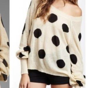 Wildfox polka dots sweater, S